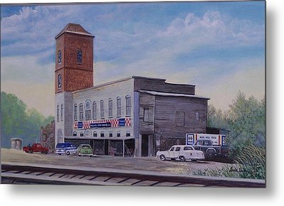 Rock Hill Feed And Supply  Sold Metal Print