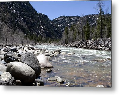 Metal Print featuring the photograph Rock In The River by Lorraine Devon Wilke