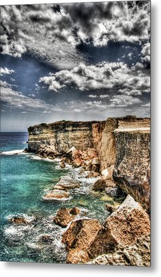 Rocky Salentu Metal Print by Andrea Barbieri