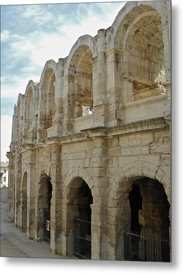 Metal Print featuring the photograph Roman Coliseum In Arles by Kirsten Giving