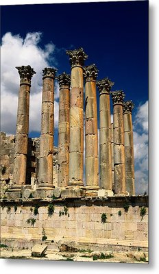 Roman Ruins At Jerash, Jordan Metal Print by Richard Nowitz
