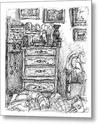 Room Study Metal Print by Elizabeth Carrozza