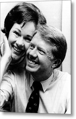 Rosalynn Carter And Jimmy Carter Watch Metal Print by Everett
