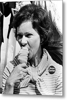 Rosalynn Carter Enjoys An Ice Cream Metal Print