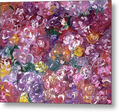 Metal Print featuring the painting Rose Festival by Alys Caviness-Gober