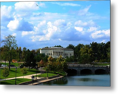 Metal Print featuring the photograph Rose Garden And Hoyt Lake by Michael Frank Jr