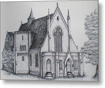Rosemount Parish Church Metal Print by Sheep McTavish