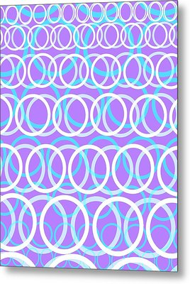 Round Cirlces Metal Print by Louisa Knight