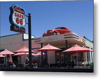 Route 66 Cruisers Williams Arizona Metal Print by Bob Christopher