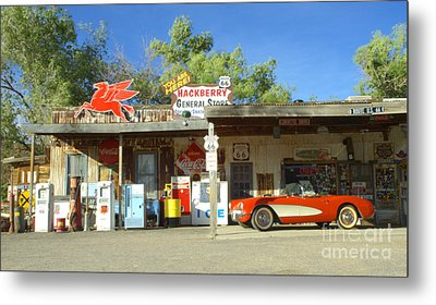 Route 66 Hackberry Arizona Metal Print by Bob Christopher
