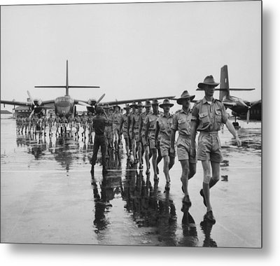 Royal Australian Air Force Arrives Metal Print by Everett