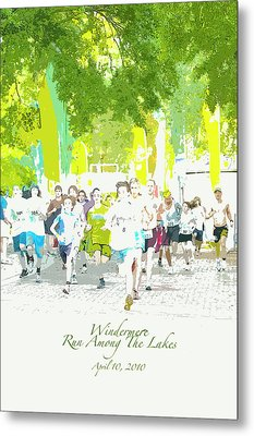Run Walk Poster Metal Print