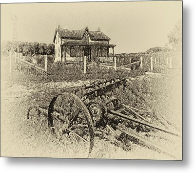 Rural Ontario Antique Metal Print by Steve Harrington