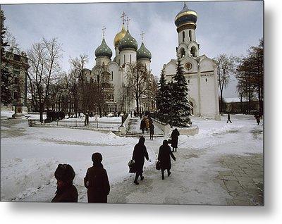 Russian Women, Dressed In Black, Walk Metal Print by James L. Stanfield