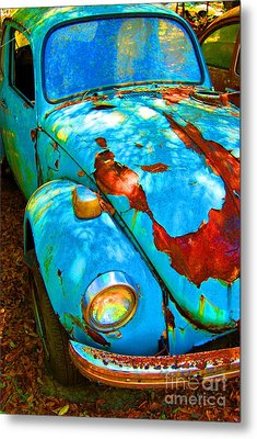 Rusty Blue Metal Print by Kendra Longfellow