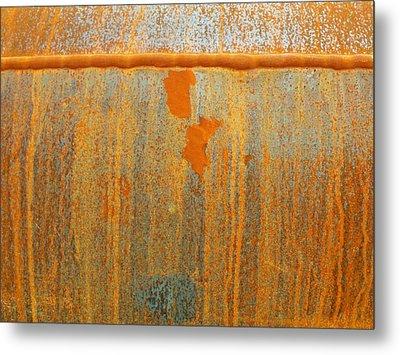 Rusty Lines I Metal Print by Anna Villarreal Garbis