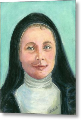 Saint Therese Of Lisieux Metal Print by Susan  Clark
