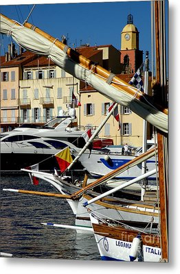 Metal Print featuring the photograph Saint Tropez Harbor by Lainie Wrightson