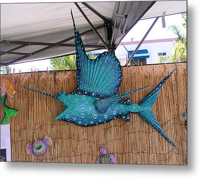 Sampson The Sailfish Metal Print