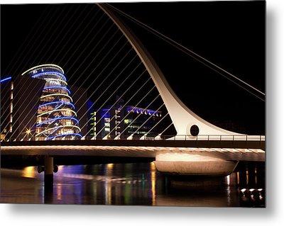 Samuel Beckett Bridge Of Dublin Metal Print