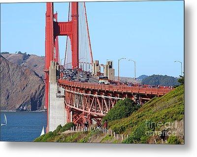 San Francisco Golden Gate Bridge . 7d8151 Metal Print by Wingsdomain Art and Photography