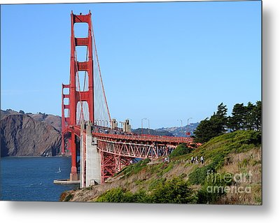 San Francisco Golden Gate Bridge . 7d8158 Metal Print by Wingsdomain Art and Photography