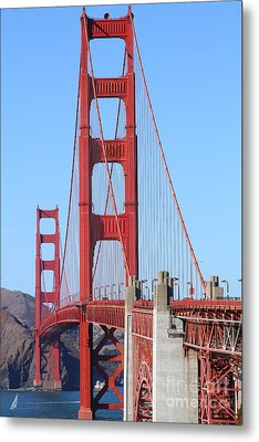 San Francisco Golden Gate Bridge . 7d8164 Metal Print by Wingsdomain Art and Photography
