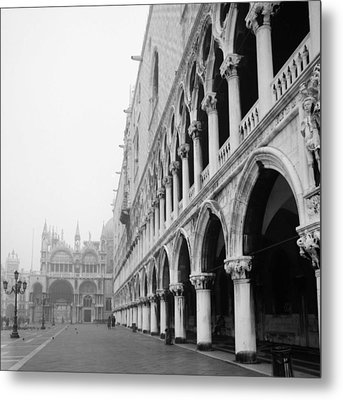 Metal Print featuring the photograph San Marco Square In Venice by Emanuel Tanjala