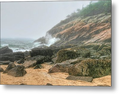 Sand Beach - Acadia Metal Print by Mary Hershberger