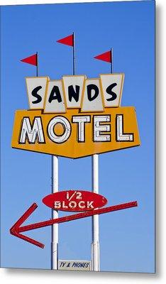 Sands Motel Metal Print by Matthew Bamberg
