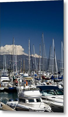 Santa Barbara Harbor Metal Print by Gary Brandes