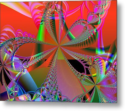 Metal Print featuring the digital art Saucy Bows by Ann Peck