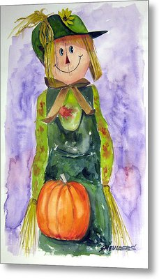 Scarecrow Metal Print by John Smeulders