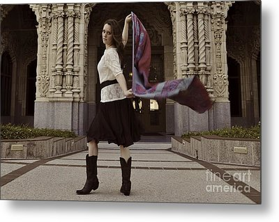 Metal Print featuring the photograph Scarf Wrap by Sherry Davis