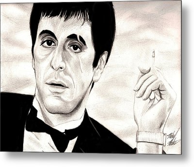 Scarface Metal Print by Michael Mestas