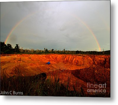 Metal Print featuring the photograph Scarlet Pit by John Burns