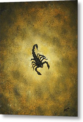 Metal Print featuring the painting Scorpion by Edwin Alverio