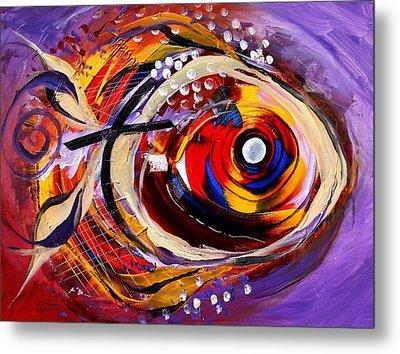 Scripture Fish Metal Print by J Vincent Scarpace
