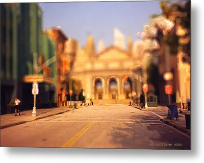 Metal Print featuring the photograph Seaport Tiltshift by EricaMaxine  Price