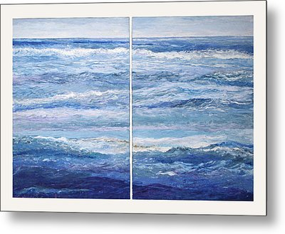 Seashore Diptych Metal Print by Meg Black
