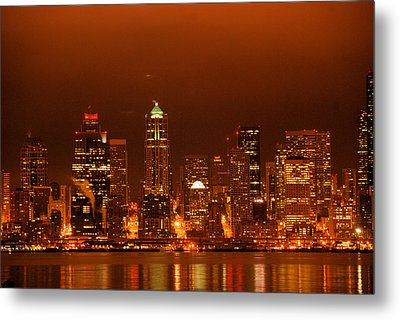 Seattle Skyline Metal Print