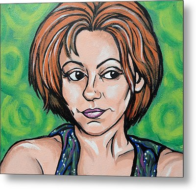 Metal Print featuring the painting Self 2011 by Sarah Crumpler