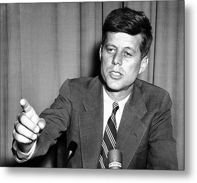 Sen. John Kennedy After Making Metal Print by Everett