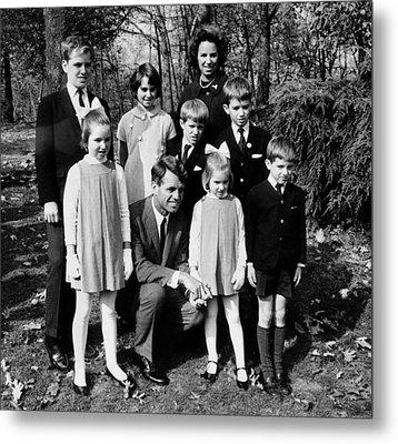 Senator-elect Robert Kennedy And Wife Metal Print by Everett