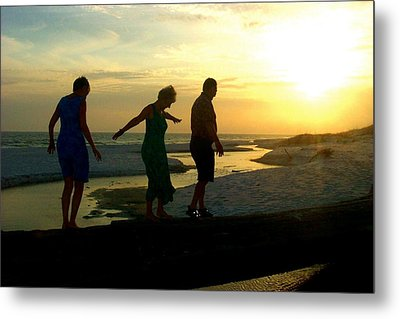 Seniors At Playtime Metal Print