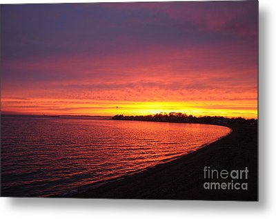 Metal Print featuring the photograph September Sunset by Cindy Lee Longhini