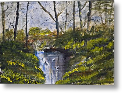 Metal Print featuring the painting Serenity by Rob Hemphill