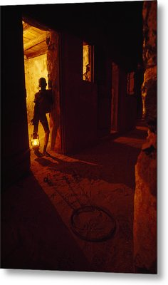 Shackles In Cell On Goree Island Recall Metal Print by Gordon Gahan