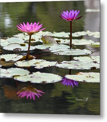 Shades Of Purple  Metal Print by Suzanne Gaff