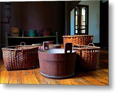 Shaker Baskets Metal Print by Lone Dakota Photography